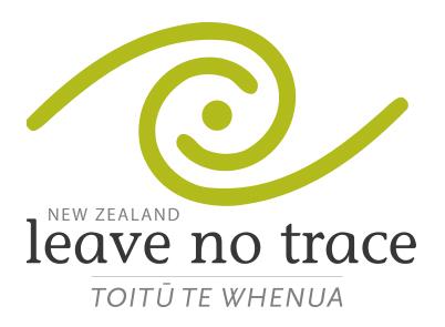 Leave No Trace logo, Walking Ttracks New Zealand