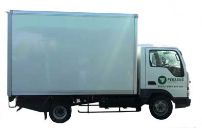 An 11 cubic metre furniture truck for hire at Pegasus Car Rentals South Auckland.