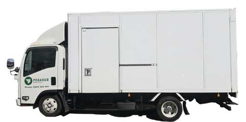 A 15 cubic metre furniture truck for rent at Pegasus Car Rentals, Takanini, Auckland.