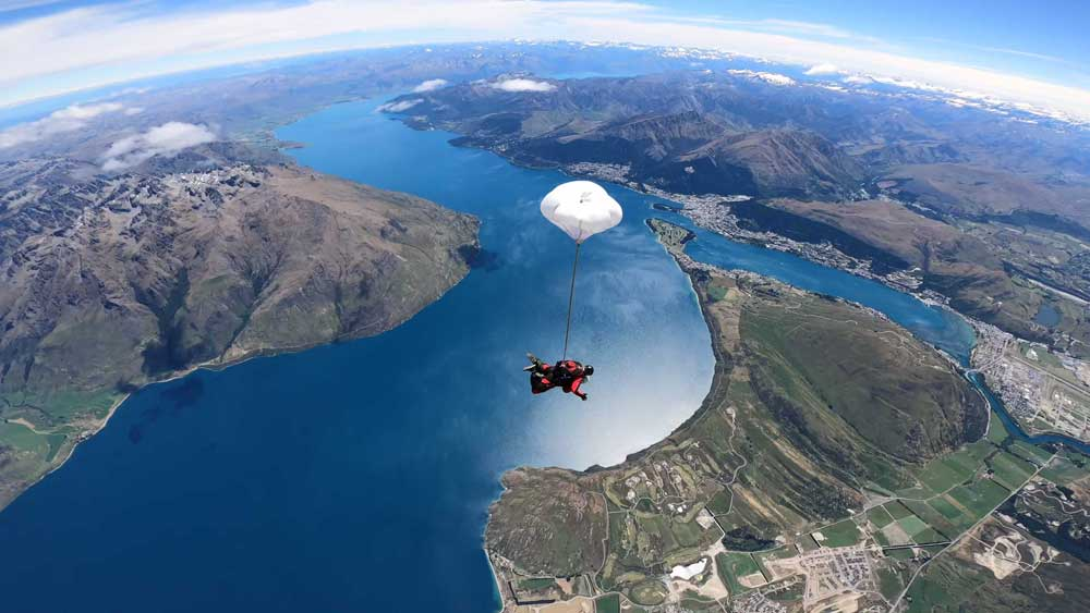Tandem Skydive Queenstown with NZONE Skydive and Pegasus Rental Cars