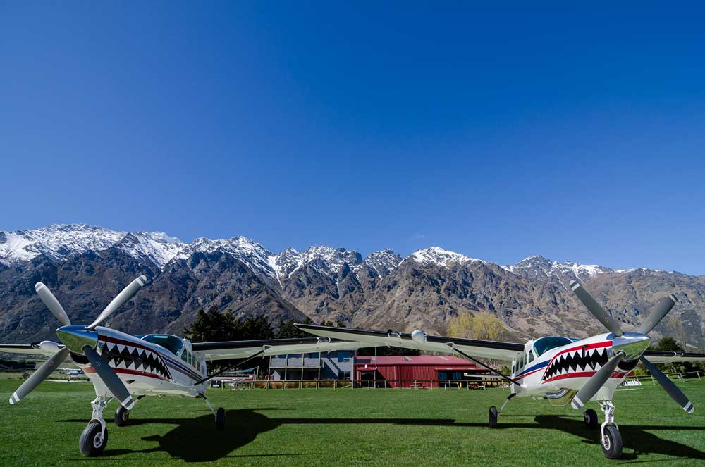 NZONE Skydive planes take nine tandem skydivers