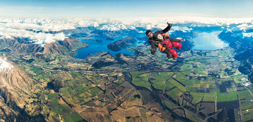 Skydive Wanaka offers a unique view of spectacular scenery and a great offer from Pegasus Rental Cars