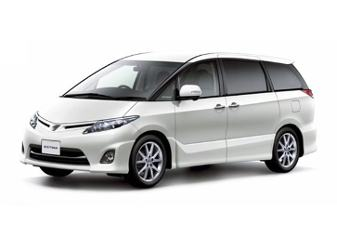 Toyota Estima car for hire at Pegasus Rental Cars Auckland Airport