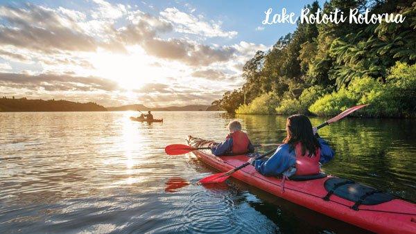Kayakers exploring Lake Rotoiti
