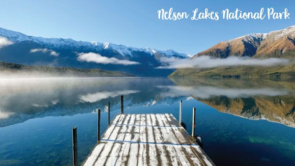 Jetty with stunning views in the Nelson Lakes National Park