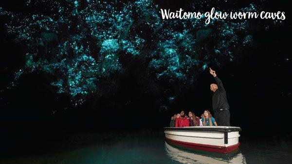 Waikato's Waitomo Glow Worm Caves by boat