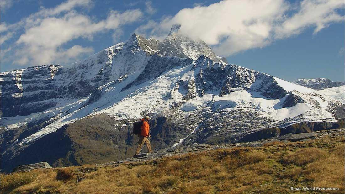 Hiker at Mount Aspiring in Lake Wanaka