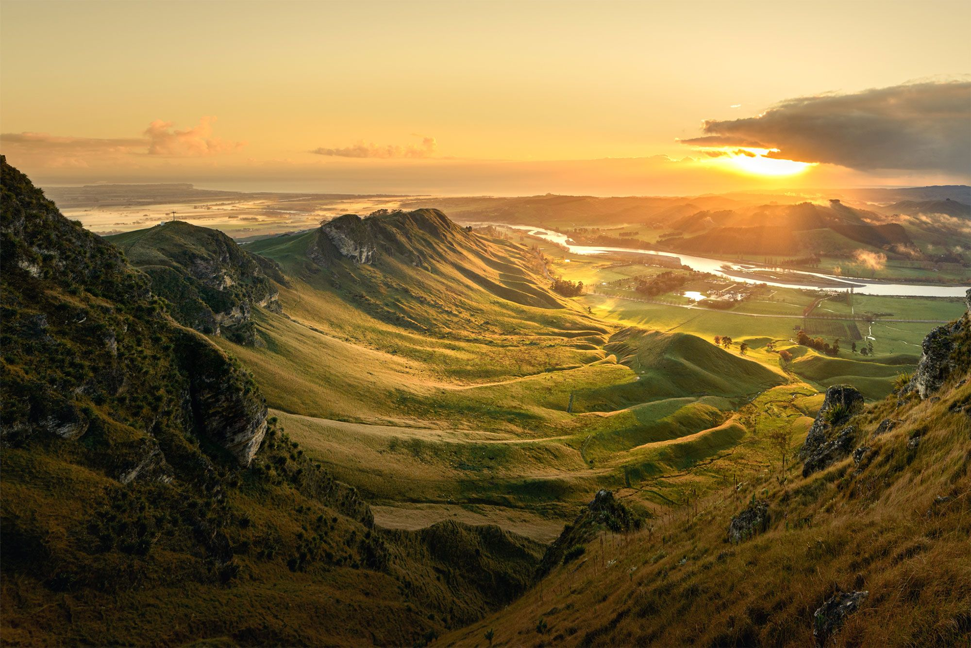 A climb to the top of Te Mata Peak in the Hawkes Bay yields staggering views
