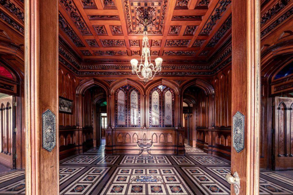 exquisite craftmanship inside Larnach Castle