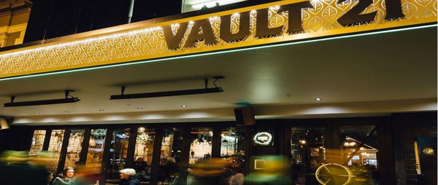 Vault 21, The Octagon in heart of Dunedin city.