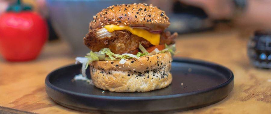 Delicious handmade burger found in Dunedin.