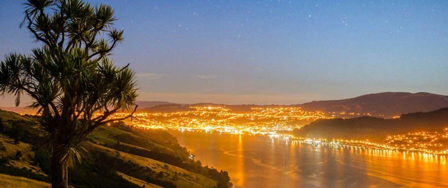 beautiful night and the Dunedin city scape