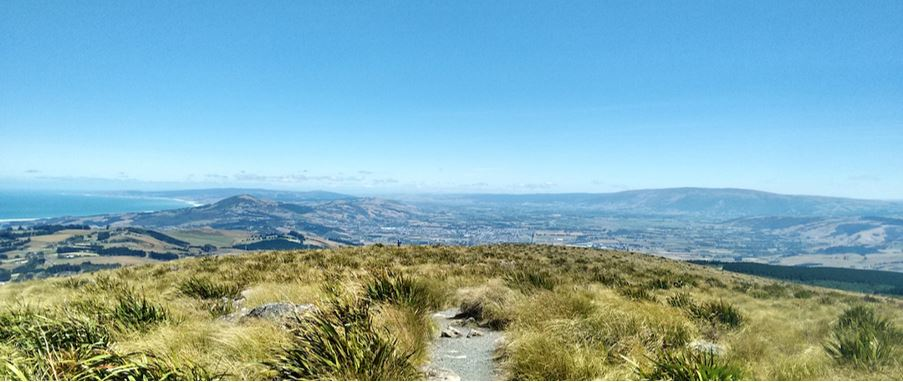 panoramic mountaintop view at Pineapple Track.