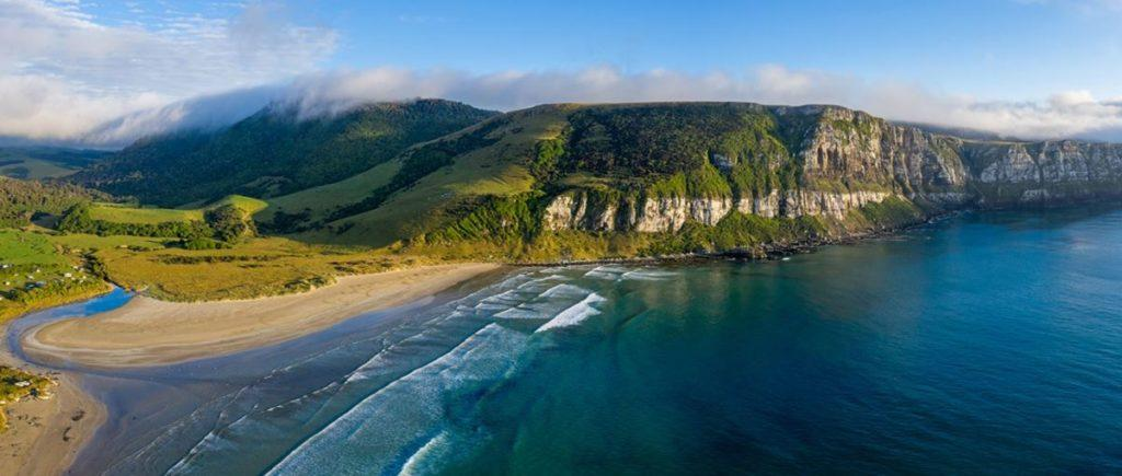 beach scenery at The Catlins.