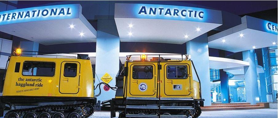 yellow hägglund at the International Antarctic Centre