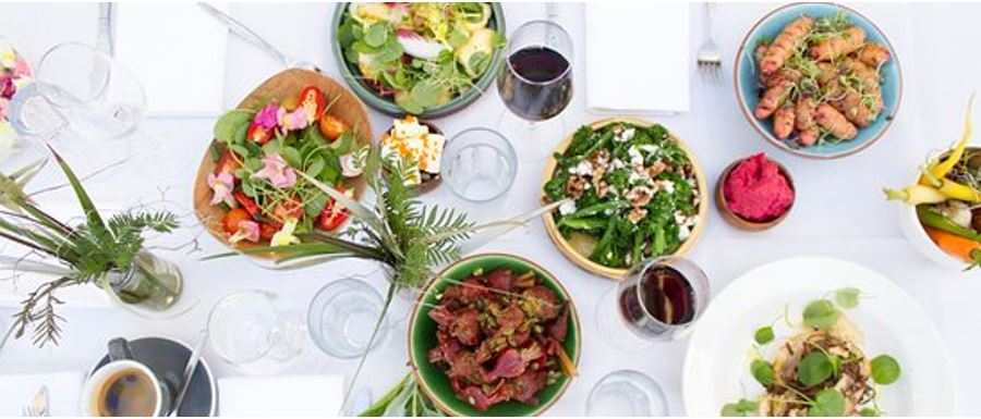 table with amazing appetizing food and wine